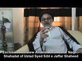 Shaheed Sibt e Jafar Zaidi in eyes of Allama Hasan Zafar Naqvi.