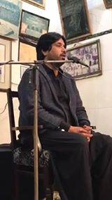 Alama Aqil Raza Zaidi reciting  majlis@ Imam bargah Darbar e Hussain basilsila chelum Imam Hassan(A.S) Mujtaba