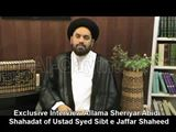 Shaheed Sibt e Jafar Zaidi in eyes of Molana Syed Shahryar Raza Abidi.
