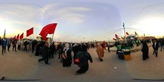 360 Video during the Miracle walk from Najaf to Karbala - Arbaeen 2016