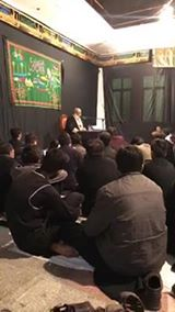 Majilia Aza at Imam Bargah Sher Gariyaan inside Mochi Gate Lahore. Reciter ( Allama Hussain Akbar )