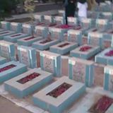Watch live Wadai e Hussain graveyard Karachi please recite one time surah fatiha for all maromeen and martyred.